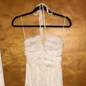 Dresses & Skirts - Lulu's maxi white prom dress with lace up detail